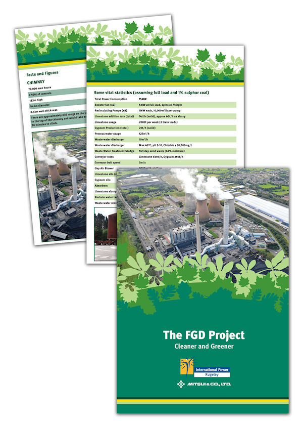 International Power Rugeley FGD press pack - folder and information sheets